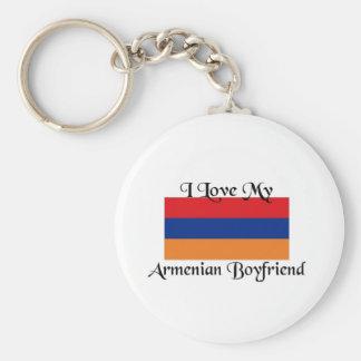 Amo a mi novio armenio llaveros personalizados