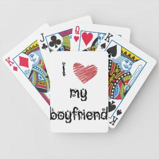 Amo a mi novio baraja cartas de poker