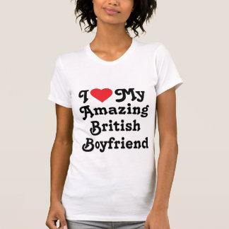Amo a mi novio británico asombroso camisetas