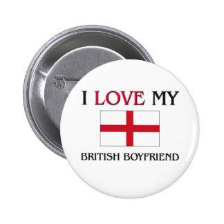 Amo a mi novio británico pins