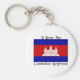 Amo a mi novio camboyano llaveros