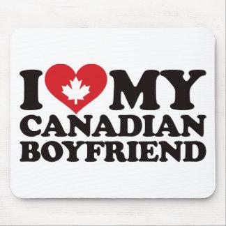 Amo a mi novio canadiense alfombrilla de raton