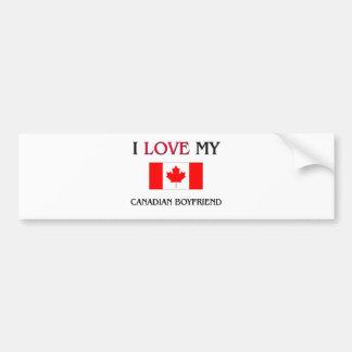 Amo a mi novio canadiense etiqueta de parachoque