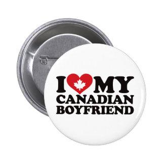 Amo a mi novio canadiense pin redondo 5 cm