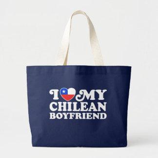 Amo a mi novio chileno bolsa tela grande
