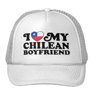 Amo a mi novio chileno gorras de camionero
