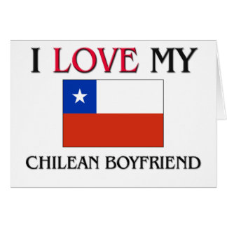 Amo a mi novio chileno tarjeta de felicitación