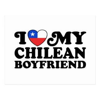 Amo a mi novio chileno postal