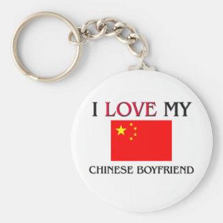 Amo a mi novio chino llaveros personalizados