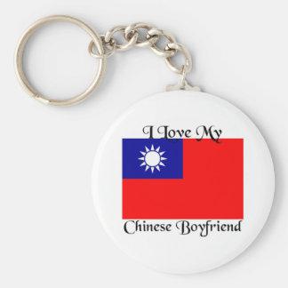 Amo a mi novio chino llaveros