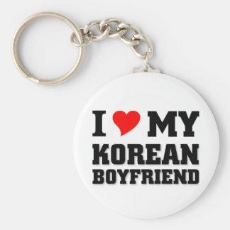 Amo a mi novio coreano llaveros personalizados