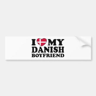 Amo a mi novio danés etiqueta de parachoque