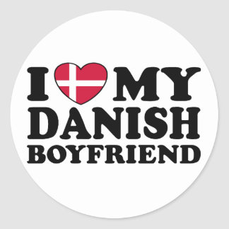 Amo a mi novio danés etiquetas