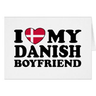 Amo a mi novio danés felicitación