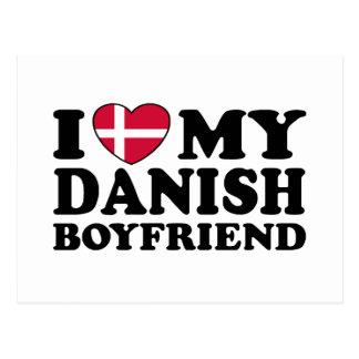 Amo a mi novio danés tarjeta postal