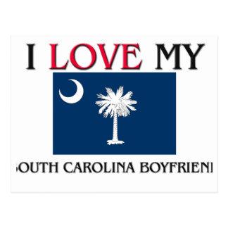 Amo a mi novio de Carolina del Sur Tarjetas Postales