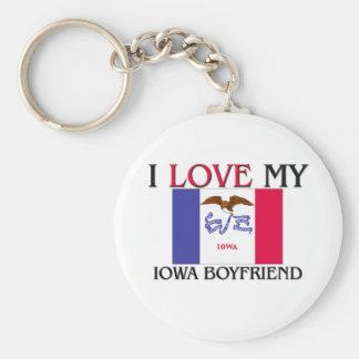 Amo a mi novio de Iowa Llavero