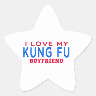 Amo a mi novio de Kung Fu Calcomanía Cuadrada