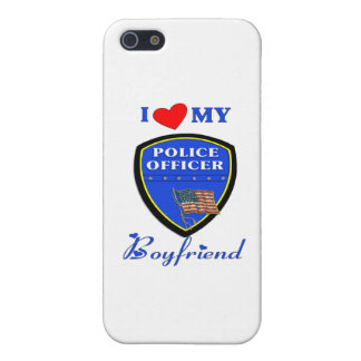 Amo a mi novio de la policía iPhone 5 fundas