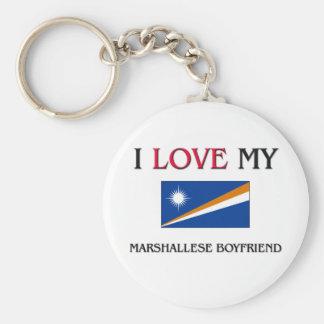 Amo a mi novio de Marshallese Llavero
