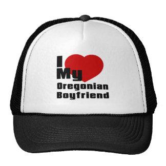 Amo a mi novio de Oregonian Gorras
