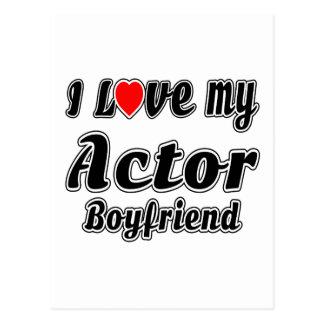 Amo a mi novio del actor tarjeta postal