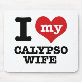 Amo a mi novio del calypso mouse pads
