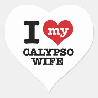 Amo a mi novio del calypso pegatina en forma de corazón
