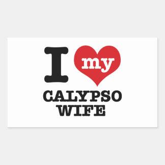 Amo a mi novio del calypso pegatina rectangular