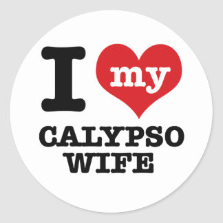 Amo a mi novio del calypso pegatina redonda