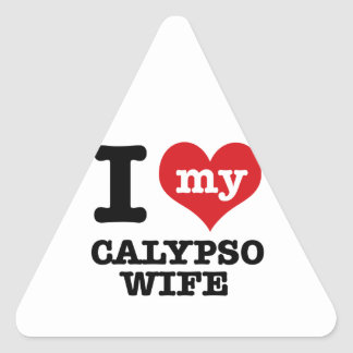 Amo a mi novio del calypso pegatina triangular