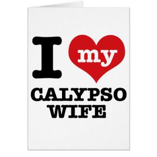 Amo a mi novio del calypso tarjeta de felicitación