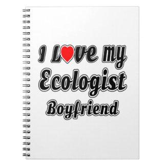 Amo a mi novio del ecologista libreta