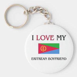 Amo a mi novio del Eritrean Llavero Personalizado