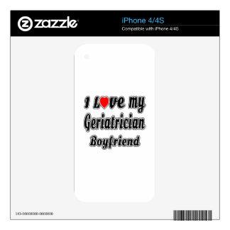 Amo a mi novio del Geriatrician iPhone 4S Calcomanía