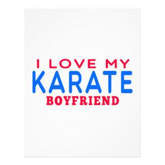 Amo a mi novio del karate membrete a diseño