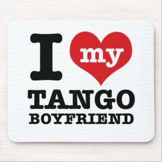 Amo a mi novio del tango tapete de ratón