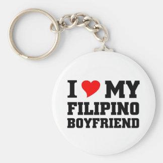 Amo a mi novio filipino llavero personalizado