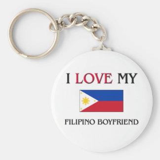 Amo a mi novio filipino llavero