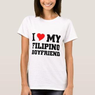 Amo a mi novio filipino playera