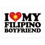 Amo a mi novio filipino postal
