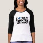Amo a mi novio finlandés camisetas