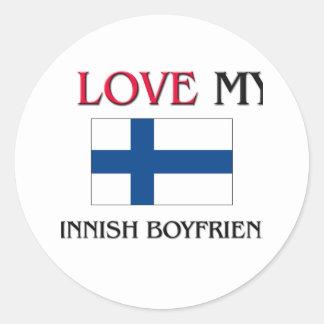 Amo a mi novio finlandés etiquetas redondas