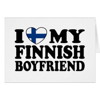 Amo a mi novio finlandés tarjeta de felicitación