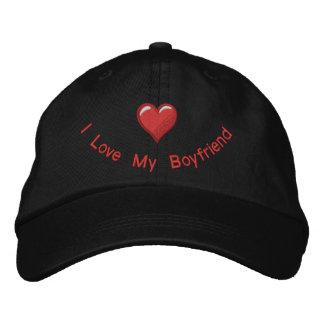 Amo a mi novio gorra de béisbol