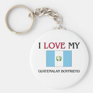 Amo a mi novio guatemalteco llavero personalizado
