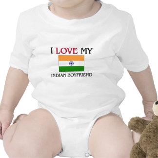 Amo a mi novio indio traje de bebé