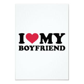 """Amo a mi novio invitación 3.5"""" x 5"""""""