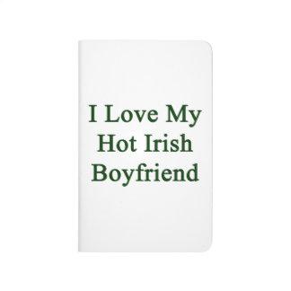 Amo a mi novio irlandés caliente cuaderno grapado