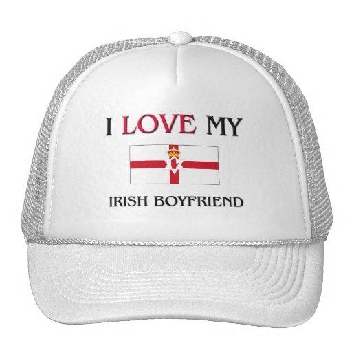 Amo a mi novio irlandés gorras